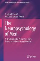 The Neuropsychology of Men A Developmental Perspective from Theory to Evidence-based Practice için kapak resmi