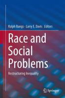 Race and Social Problems Restructuring Inequality için kapak resmi