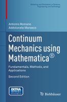 Continuum Mechanics using Mathematica® Fundamentals, Methods, and Applications için kapak resmi