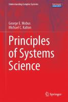 Principles of Systems Science için kapak resmi