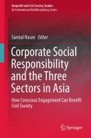 Corporate Social Responsibility and the Three Sectors in Asia How Conscious Engagement Can Benefit Civil Society için kapak resmi