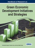 Handbook of research on green economic development initiatives and strategies için kapak resmi