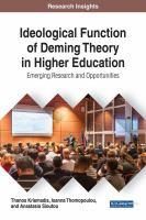 Ideological function of Deming Theory in higher education : emerging research and opportunities için kapak resmi