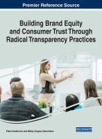 Building brand equity and consumer trust through radical transparency practices için kapak resmi