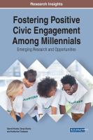 Fostering positive civic engagement among millennials için kapak resmi