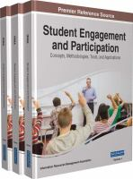 Student engagement and participation : concepts, methodologies, tools, and applications için kapak resmi