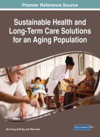 Sustainable health and long-term care solutions for an aging population için kapak resmi
