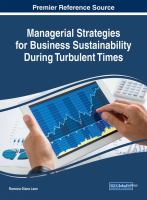 Managerial strategies for business sustainability during turbulent times için kapak resmi