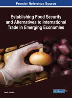 Establishing food security and alternatives to international trade in emerging economies için kapak resmi