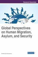 Global perspectives on human migration, asylum, and security için kapak resmi