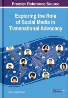 Exploring the role of social media in transnational advocacy için kapak resmi