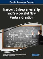 Nascent entrepreneurship and successful new venture creation için kapak resmi