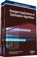 Handbook of research on emergent applications of optimization algorithms için kapak resmi