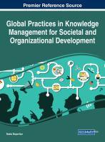 Global practices in knowledge management for societal and organizational development için kapak resmi