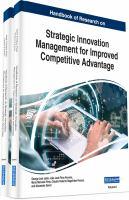 Handbook of research on strategic innovation management for improved competitive advantage için kapak resmi