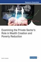 Examining the private sector's role in wealth creation and poverty reduction için kapak resmi