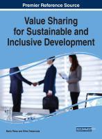 Value sharing for sustainable and inclusive development için kapak resmi