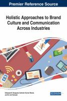 Holistic approaches to brand culture and communication across industries için kapak resmi