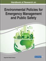 Handbook of research on environmental policies for emergency management and public safety için kapak resmi