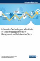 Information technology as a facilitator of social processes in project management and collaborative work için kapak resmi