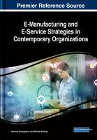 E-manufacturing and E-service strategies in contemporary organizations için kapak resmi