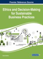 Ethics and decision-making for sustainable business practices için kapak resmi