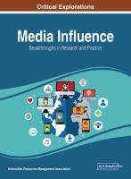 Media influence : breakthroughs in research and practice için kapak resmi
