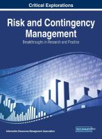Risk and contingency management : breakthroughs in research and practice için kapak resmi