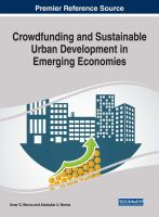 Crowdfunding and sustainable urban development in emerging economies için kapak resmi