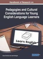 Handbook of research on pedagogies and cultural considerations for young English language learners için kapak resmi