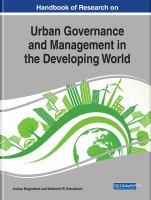 Handbook of research on urban governance and management in the developing world için kapak resmi