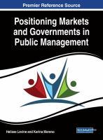 Positioning markets and governments in public management için kapak resmi