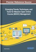 Emerging trends, techniques, and tools for massive open online course (MOOC) management için kapak resmi
