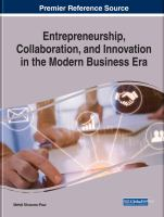 Entrepreneurship, collaboration, and innovation in the modern business era için kapak resmi