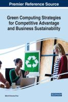 Green computing strategies for competitive advantage and business sustainability için kapak resmi