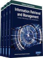 Information retrieval and management : concepts, methodologies, tools, and applications için kapak resmi