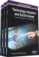 Technology adoption and social issues : concepts, methodologies, tools, and applications için kapak resmi