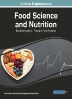 Food science and nutrition : breakthroughs in research and practice için kapak resmi