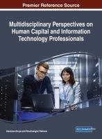 Multidisciplinary perspectives on human capital and information technology professionals için kapak resmi