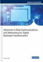 Advances in data communications and networking for digital business transformation için kapak resmi