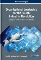 Organizational leadership for the fourth industrial revolution : emerging research and opportunities için kapak resmi