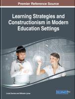 Learning strategies and constructionism in modern education settings için kapak resmi