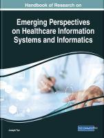 Handbook of research on emerging perspectives on healthcare information systems and informatics için kapak resmi