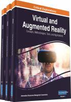 Virtual and augmented reality : concepts, methodologies, tools, and applications için kapak resmi
