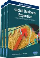 Global business expansion : concepts, methodologies, tools, and applications için kapak resmi