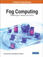 Fog computing : breakthroughs in research and practice için kapak resmi