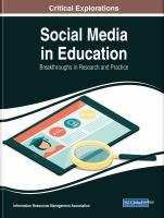 Social media in education : breakthroughs in research and practice için kapak resmi