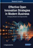 Effective open innovation strategies in modern business : emerging research and opportunities için kapak resmi