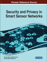Security and privacy in smart sensor networks için kapak resmi