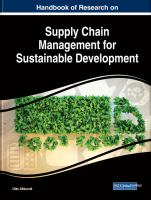 Handbook of research on supply chain management for sustainable development için kapak resmi